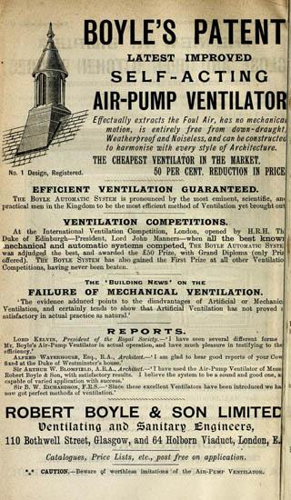 Architectural Demonstration Model, Victorian Ventilator