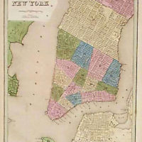 Map, Lower Manhattan in 1846