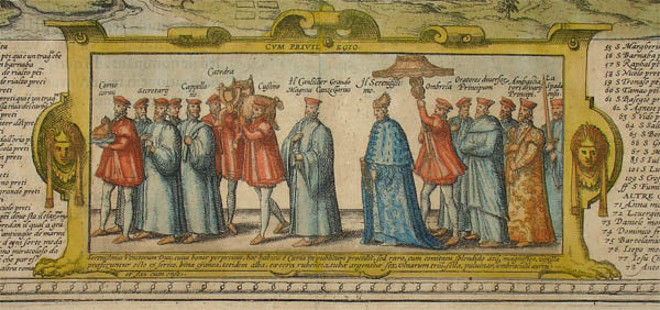 Detail of the procession of the doge.