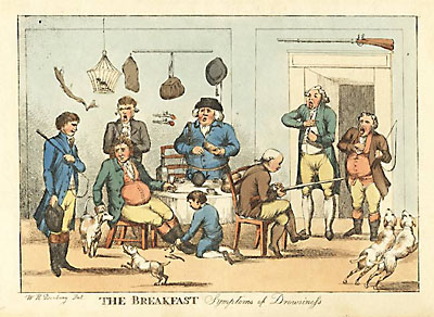 The Breakfast - Symptoms of Drowsiness, Humorous Hunting Lodge Scene