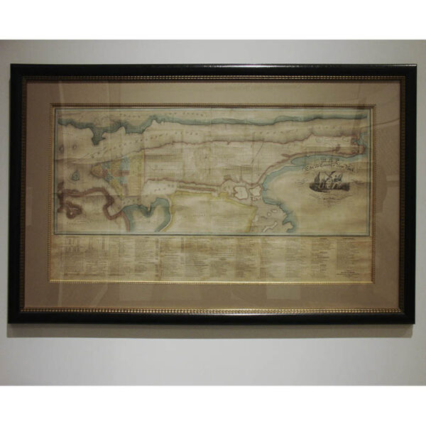David Burr Wall Map displayed at Greatest Grid exhibition