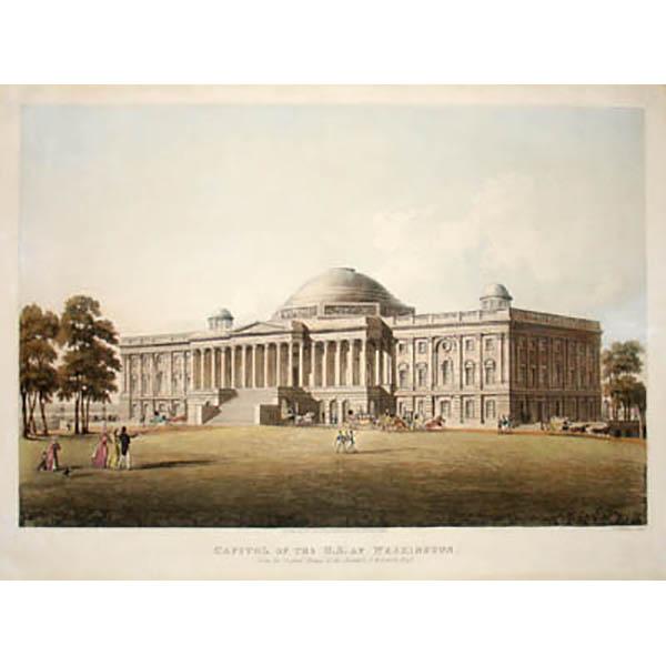 Capitol of the U.S. at Washington. From the Original Design of the Architect. B.H. Latrobe, Esqr.
