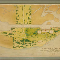 Manuscript Map, Long Island Seashore, Captree State Park