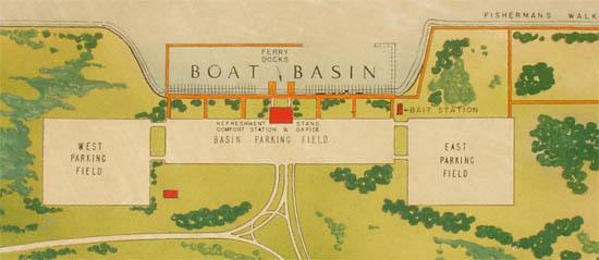Manuscript Map, Long Island Seashore, Captree State Park