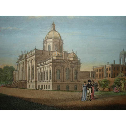 A View of the Noble House and Part of the Garden of Castle Howard, detail