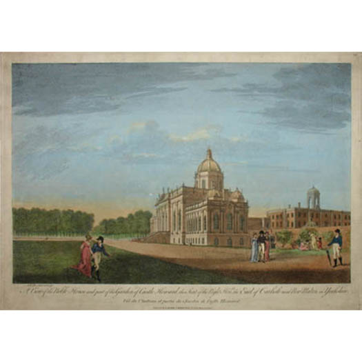 A View of the Noble House and Part of the Garden of Castle Howard