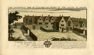 The South-West View of Clatter-cote Priory, in the County of Oxford