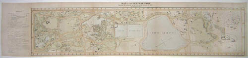 Map, Central Park Commissioner's