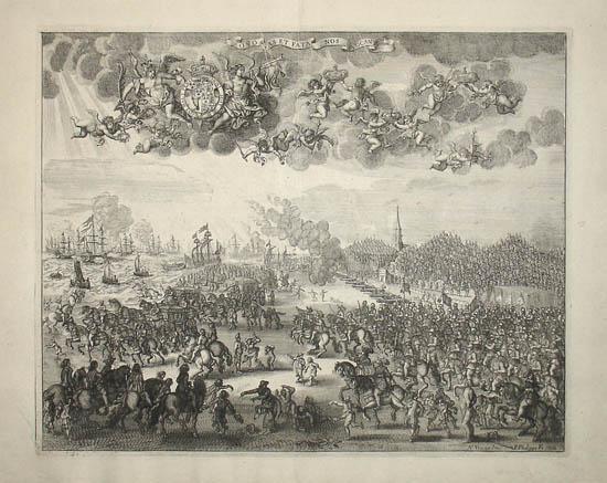 Charles II Setting Sail from Scheveningen