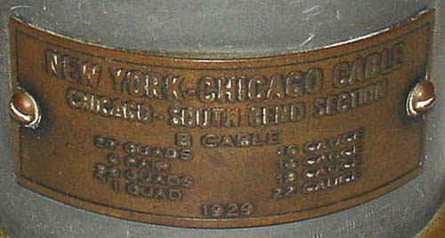 New York-Chicago Telephone Cable