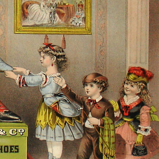S.D. Sollers & Co. Children's Fine Shoes, detail of broadside