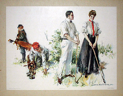 H.C. Christy Romantic Golf Print
