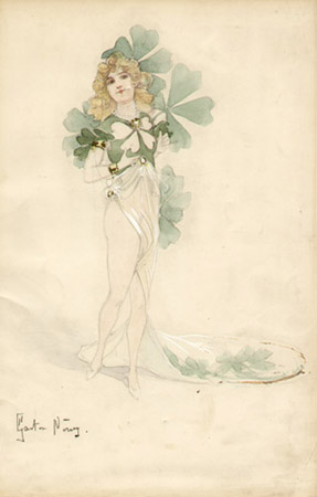 Untitled [Four-Leaf Clover Costume]