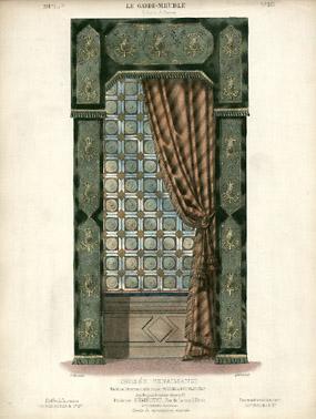 Croisée Renaissance, Modele et Ornements de la maison Roussel et Laverlochère [Renaissance Window, Model and Ornaments from the House of Roussel and Laverlochère]