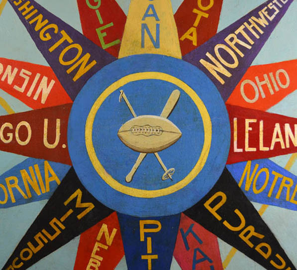 College Pennant Sports Compass