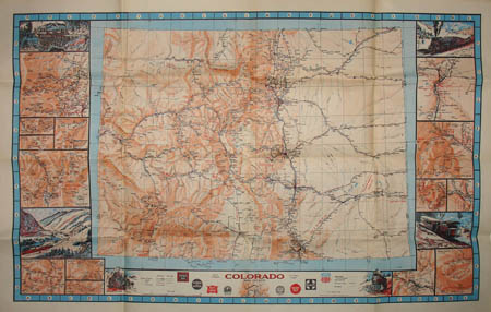 Pictorial Map, Colorado Railroad