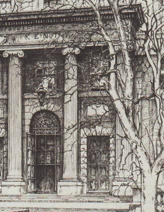 Kent Hall detail