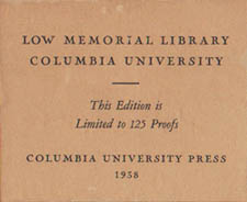 Original label accompanying Library print