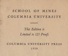 Original label accompanying School of Mines print