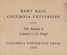 Original label accompanying Kent Hall print