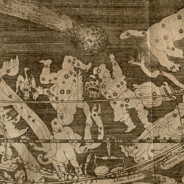 Celestial Print, The Great Comet of 1680, detail