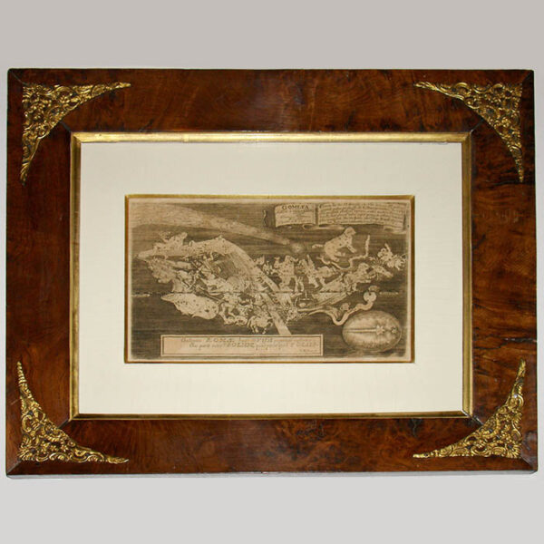 Celestial Print, The Great Comet of 1680, framed