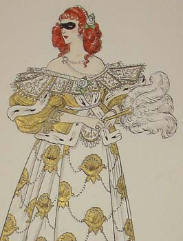 Condon fashion illustration detail