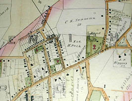 Road and Property Map showing the Towns of Stamford and Greenwich Conn. Together with Surrounding Territory, Map 2, detail