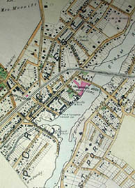 Road and Property Map showing the Towns of Stamford and Greenwich Conn. Together with Surrounding Territory, Map 3, detail