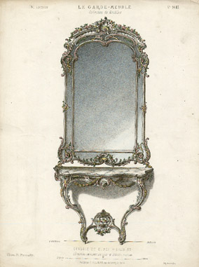Console Et Glace - Louis XV [Shelf and Mirror -- Louis XV]