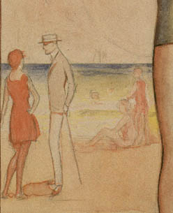 Critique 1915 Beach Couple