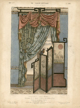 Croisée Japonaise, Ornements de la Maison Roussel et Laverlochère [Japanese Window, Ornaments from the House of Roussel and Laverlochère]
