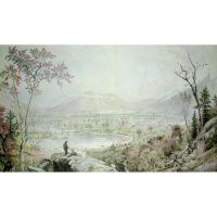 Jasper Cropsey, American Autumn, Starrucca Valley, 1865 print