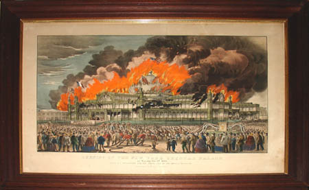 Burning of the New York Crystal Palace, 1858