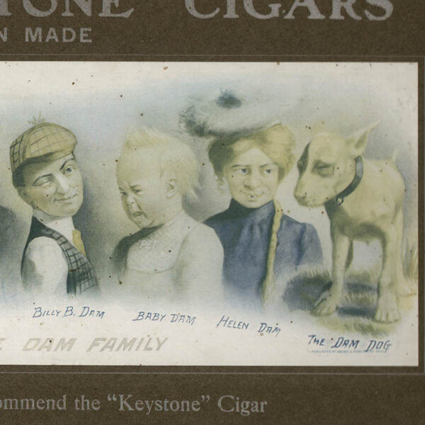 "The Whole Dam Family Recommend the ""Keystone"" Cigar, detail"