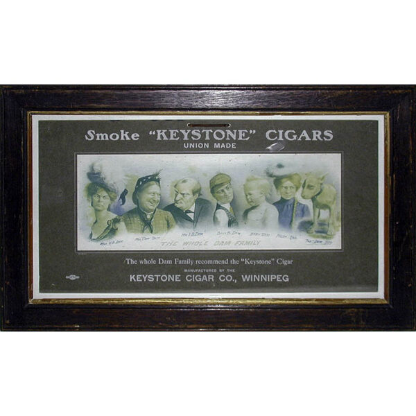 "The Whole Dam Family Recommend the ""Keystone"" Cigar, framed"