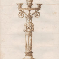 Neoclassical Caryatid Candelabrum Design