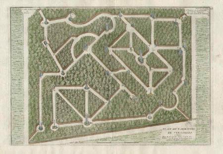 Plan du Labirinthe de Versailles