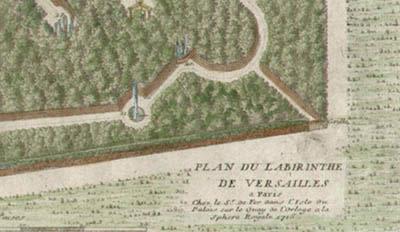 Plan du Labirinthe de Versailles, detail