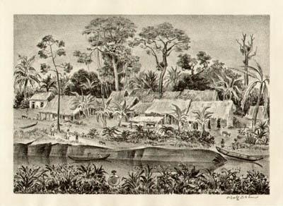 Venezuelan Village, Tropical Landscape