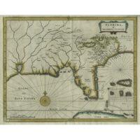 Florida, et Regiones Vincinae [Florida and Vicinity] from Beschrijvinghe van West-Indiën