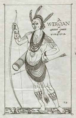 Weroan or Great Chief of Virginia