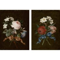 Pair of Barbara Regina Dietzsch Rose Paintings
