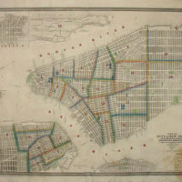 Map, New York City, with Brooklyn &amp