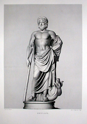 Esculape [Aesculapius (or Asclepios), God of Medicine]