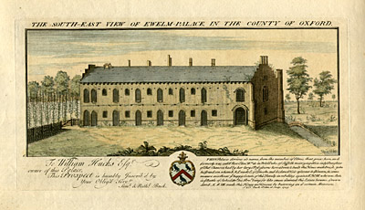 The South-East View of Ewelm Palace, in the County of Oxford