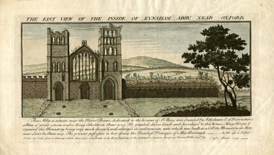 The East View of the Inside of Eynsham Abby, Near Oxford