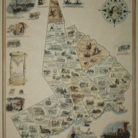 Pictorial Map, Fairfield County, Connecticut