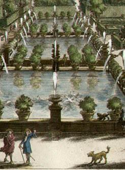 Veduta Delle Peschiere E'Giuochi D'Acqua Nel Piano Del Giardino, detail