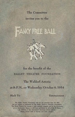 Fancy Free Ball program cover